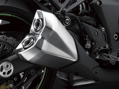 二輪車用マフラー ステンレス溶接組立品